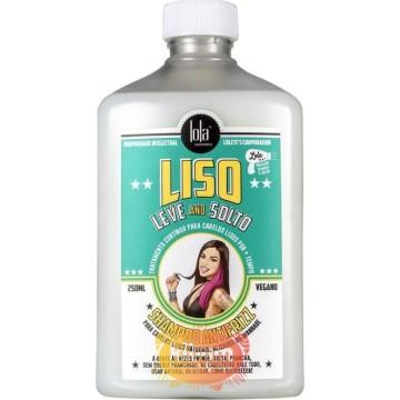 Shampoo Liso leve e solto 250ml ''Lola Cosmetics''