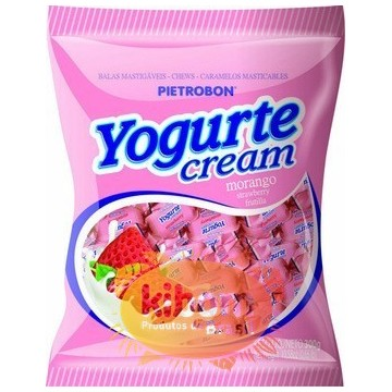 "Bala Yogurte Cream ""Pietrobon"" Morango 250g"