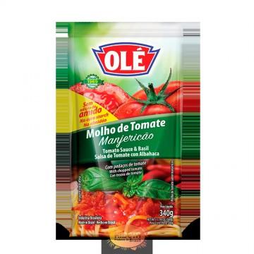Molho de Tomate Manjericao Olé 340g