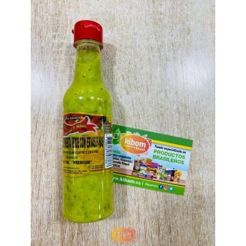 "Creme de Pimenta Verde c/ Ervas Finas ""Aroma d' Minas"" 150ml"