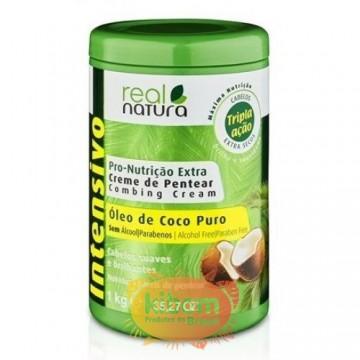 "Creme de Pentear de Coco ""Real Natura"" 1kg"