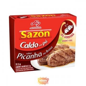 Caldo em pó Sazon sabor Picanha