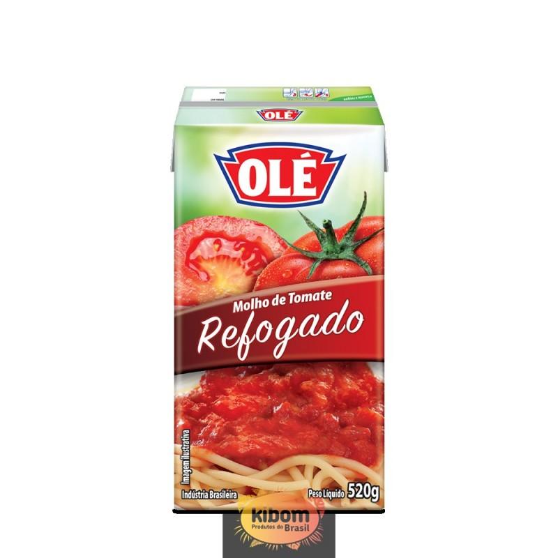 """Molho Tomate Refogado  """" Olé """" 400 grs"""