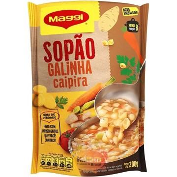 """Sopao """"Maggi"""" sabor Galinha Caipira 200g"""